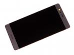 - Ekran dotykowy z wyświetlaczem LCD i baterią Huawei VIE-L09 P9 Plus - złoty (oryginalny)