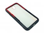 Etui Creative Samsung J330 J3 2017 czarno-czerwone