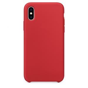 - Etui silikonowe iPhone X/XS czerwone