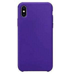 34 - Etui silikonowe Iphone X/XS fioletowe