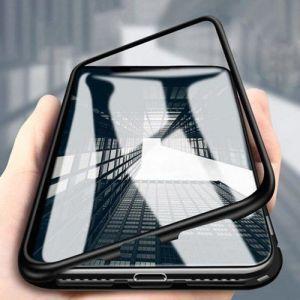 - Etui tylne z magnetyczną ramką 360 iPhone XS Max czarno - przezroczysty