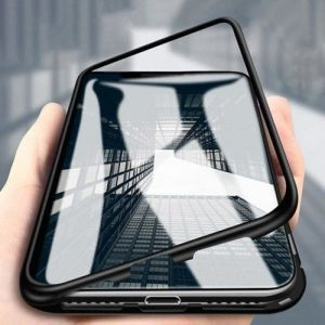 - Etui tylne z magnetyczną ramką 360 Samsung Galaxy S9 Plus G965 czarno - przezroczysty