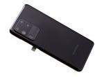 GH82-22217A-DEM - Oryginalna Klapka baterii Samsung SM-G988 Galaxy S20 Ultra - czarna (demontaż) Grade A