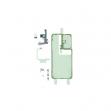 GH82-24597A - Oryginalna taśma montażowa Folia klejąca klapki baterii Samsung SM-G998 GALAXY S21 ULTRA