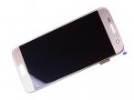 GH97-18523C, GH97-18761C - ORYGINALNY Wyświetlacz LCD + ekran dotykowy Samsung G930 Galaxy S7 złoty