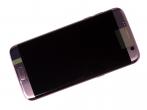 GH97-18533E, GH97-18767E - Obudowa przednia z ekranem dotykowym i wyświetlaczem LCD Samsung SM-G935F Galaxy S7 Edge - różowo - ...