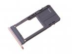 GH98-40738D - Szufladka karty SD Samsung SM-A520F Galaxy A5 (2017) - różowa (oryginalna)