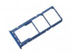 GH98-43634D - Szufladka karty SIM Samsung SM-A750 Galaxy A7 (2018) - niebieska (oryginalna)