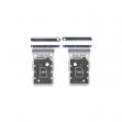 GH98-46258B - Oryginalna Szufladka karty SIM Samsung SM-G998 GALAXY S21 ULTRA (DUAL SIM) - srebrna