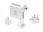 H-CRNAWGR02 - Adapter Powerbank ładowarka sieciowa HEDO 3w1 SUPER CHARGER US / AU / EU / UK (oryginalna)