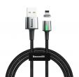 Kabel magnetyczny baseus iphone lightning 1m 2.4 a czarny CALXC-A01