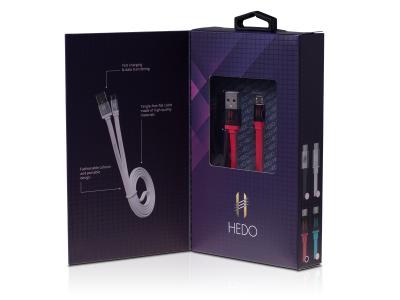 20692 - KABEL MICRO USB HEDO UNIWERSALNY - CZERWONY Fast charge (ORYGINALNY)