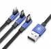 Kabel USB Baseus MVP 3w1 (iPhone/Type C/Micro USB) 120cm 3.5A granatowy (CAMLT-WZ03)