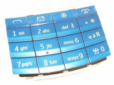 14458 - Klawiatura Nokia X3-02 niebieska