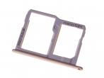 MBN64704631 - Szufladka karty nanoSIM i microSD LG M320 X Power 2 - złota (oryginalna)