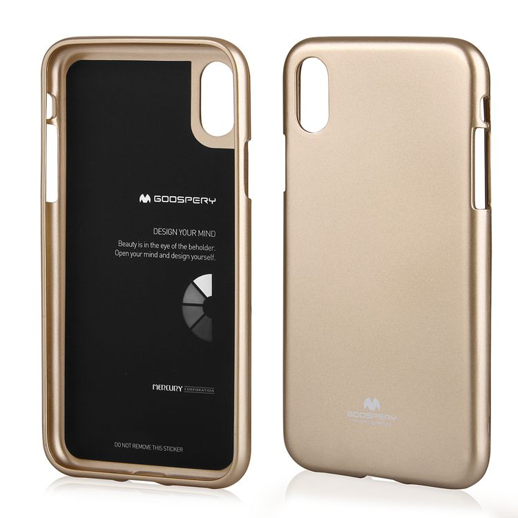 the latest 2020b cd037 MERCURY JELLY CASE iPhone X GOLD