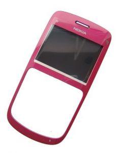 0257121 - Obudowa przednia Nokia C3-00 - różowa (oryginalna)