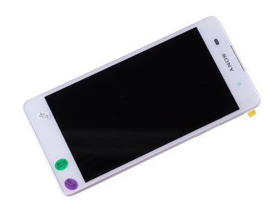 78PA4100010, 78PA4100050 - Obudowa przednia z ekranem dotykowym i wyświetlaczem LCD Sony F3311, F3313 Xperia E5 - biała (oryginalna)