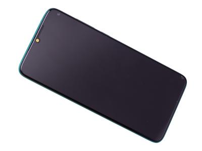 56000400G700 - Obudowa przednia z ekranem dotykowym i wyświetlaczem Xiaomi Redmi Note 8 Pro - zielona (oryginalna)