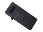 Oryginalna Klapka baterii Samsung SM-G975 Galaxy S10 Plus - ceramic black - (demontaż)