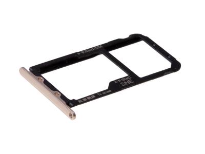 51661KAX - Oryginalna Szufladka karty SIM Huawei Mate 20 Lite - złota