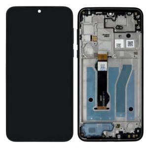 5D68C15528 - Oryginalny Wyświetlacz LCD + Ekran Dotykowy Motorola G8 PLUS XT2019 - niebieski