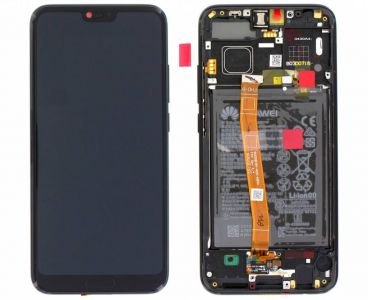 - Oryginalny Wyświetlacz LCD + ekran dotykowy Huawei Honor 10 z ramką i baterią czarny