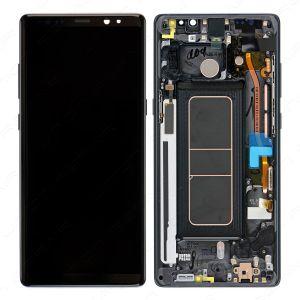 - Oryginalny wyświetlacz LCD + ekran dotykowy Samsung N950 Note 8 czarny