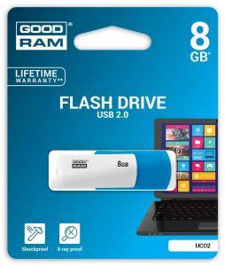 SGGOD2G08CMX800 - Pendrive Goodram USB 2.0 8GB Color Mix (biało-niebieski)