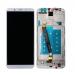 RNE-L01 , RNE-L21 - Wyświetlacz LCD + ekran dotykowy Huawei Mate 10 Lite biały + ramka