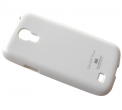 Rubber case MERCURY Samsung I9190/ I9195 Galaxy S4 mini - white (original)