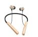 Słuchawki bezprzewodowe Bluetooth z uchwytem na szyje AY-01 - złote (blister)