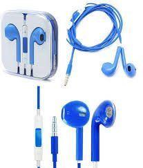 10209 - Słuchawki iPhone 5/5G/5S/5C/6G niebieskie