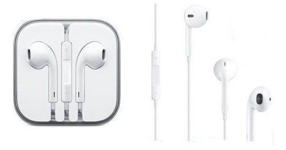 10207 - Słuchawki  przewodowe iPhone 5/5G/5S/5C/6G (3,5 mm) białe (blister)