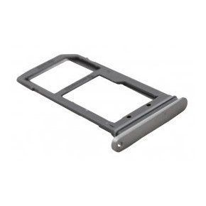 16408 - Szufladka karty SIM Samsung G930 S7 srebrna