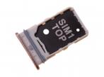 Szufladka karty sim Samsung SM-A805 Galaxy A80 miedziana / złota