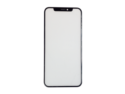 - Szybka + ramka + klej OCA iPhone X czarna