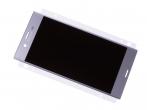 U50040032, 1304-9086 - Ekran dotykowy z wyświetlaczem LCD Sony F8331 Xperia XZ/ F8332 Xperia XZ Dual SIM - srebrny (orygina...