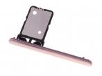 U50060071, 306J2DE0800 - Szufladka karty SIM Sony I3113, I3123, I4113, I4193 Xperia 10 - różowa (oryginalna)