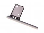 U50060091, 306J2DE0600 - Szufladka karty SIM Sony I3113, I3123, I4113, I4193 Xperia 10 - srebrna (oryginalna)