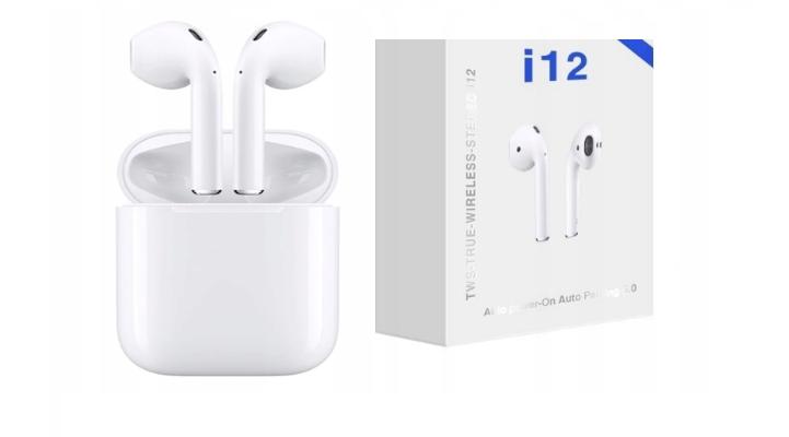 Wireless headphones Bluetooth i12 TWS white