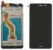 Wyświetlacz LCD + ekran dotykowy Huawei Y7 2017 czarny z ramką