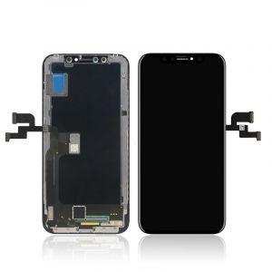 WYŚWIETLACZ LCD Z EKRANEM DOTYKOWYM IPHONE X wymieniona szyba - CZARNY