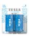 Zinc-carbon battery TESLA C/R14/1,5V 2pcs BLUE+